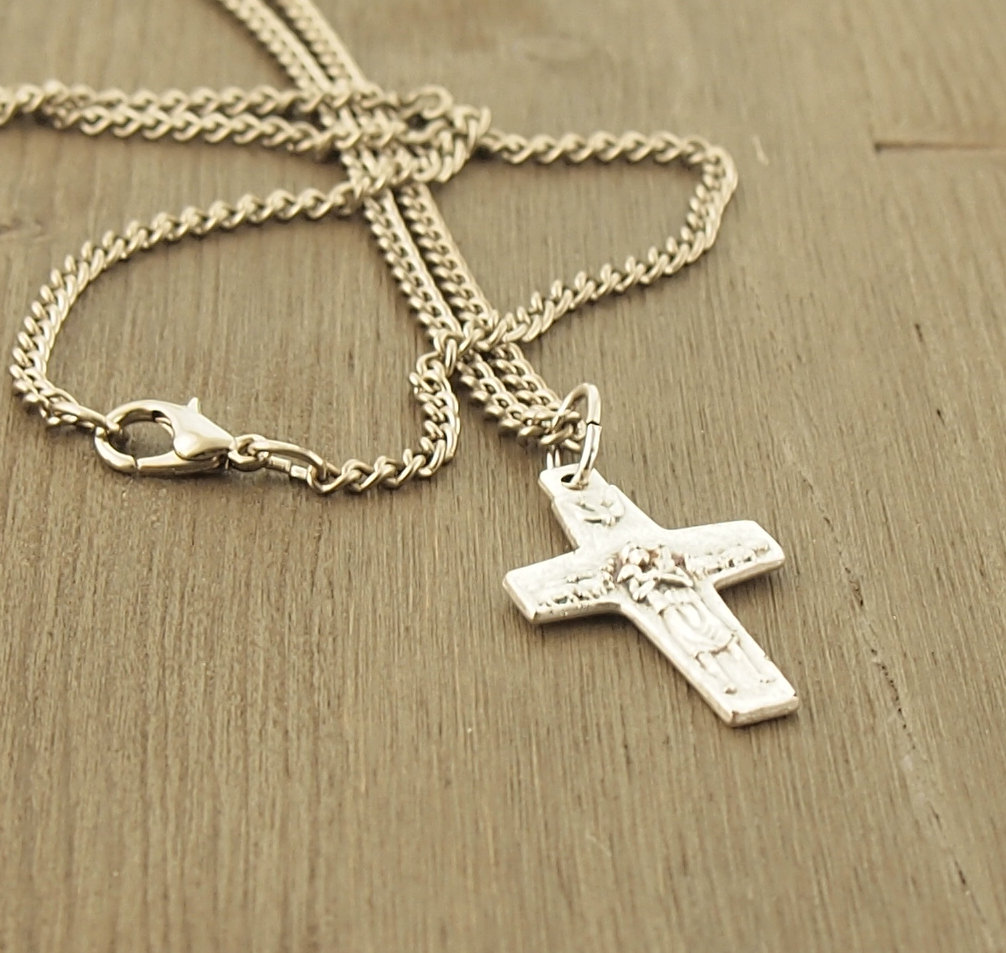 Relatively Cross Necklace Pope Francis The Good Shepherd Cross 24 Inch  PK74
